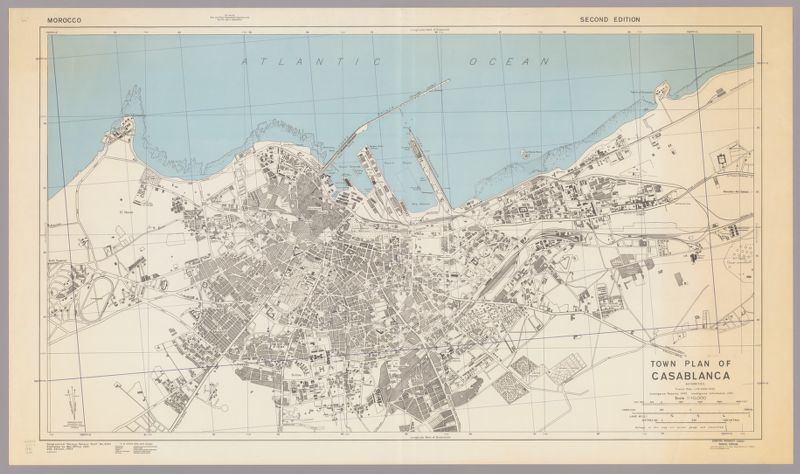 Town plan of Casablanca