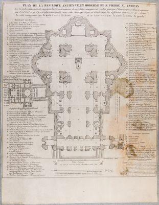 Plan de la Basilique Ancienne et Moderne de S. Pierre au Vatican