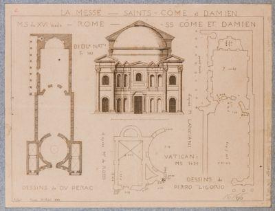 Tempio di Romolo, pianta