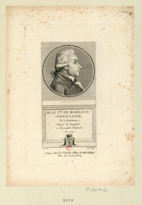 M. le c.te de Marsane-Fonjuliane né à Montelimart député du Dauphiné à l'Assemblée nationale de 1789 : [estampe]