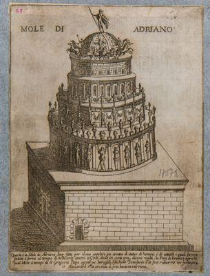Castel S. Angelo, ricostruzione immaginaria