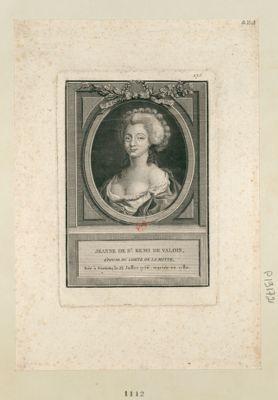 Jeanne de S.t Rémi de Valois, épouse du comte de La Motte [estampe]