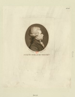 Jacques Guillaume Thouret deputé de la ville de Rouen à l'Assemblée nationale en 1789, élu président le 11 9.bre : [estampe]