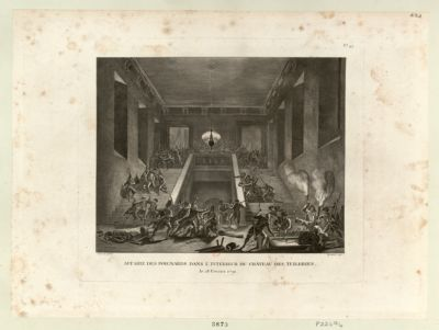 Affaire des poignards dans l'intérieur du château des Tuileries le 28 février 1791 : [estampe]