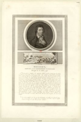 Brissot, député à la Convention nationale, décapité le 31 octobre 1793 [estampe]