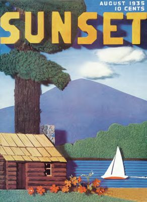 Sunset Magazine cover. August 1935