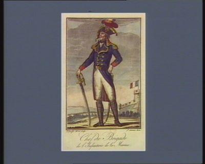 Chef de brigade de l'infanterie de la Marine [estampe]