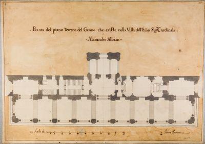 Villa Albani. Casino, pianta