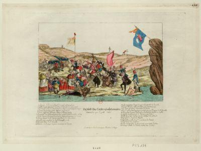 Défaite des contre-révolutionnaires commandés par le petit Condé [estampe]