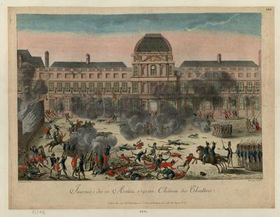 Journée du 10 aoûst 1792 au Château des Thuillerie [estampe]