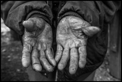 The hands of Manuel Ortiz show a life of work