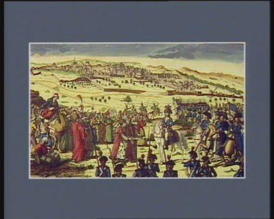 [Remise des clés de la ville du Caire au général Bonaparte] [estampe]