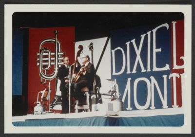 George (Pops) Foster with Clancy Hayes at Dixieland Monterey event