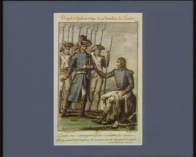 Bigot adjudant major du 4.e bataillon des Landes garde mes compagnons pour combattre les ennemis ; moi je serai trop heureux de mourir sur le champ de bataille. Le 17 pluviose an III : [estampe]