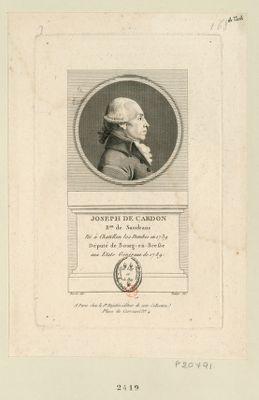 Joseph de Cardon b.on de Sandrans né à Chatillon les Dombes en 1739 député de Bourg-en-Bresse aux Etats généraux de 1789 : [estampe]