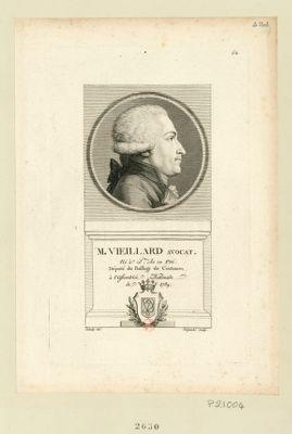 M. Vieillard avocat né à St Lo en 1756. Député du baillage de Coutances, à l'Assemblée nationale de 1789 : [estampe]