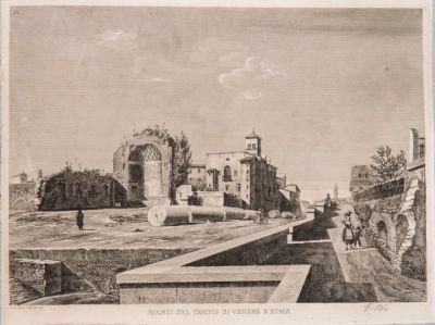 Tempio di Venere e Roma, cella vista dal Colosseo