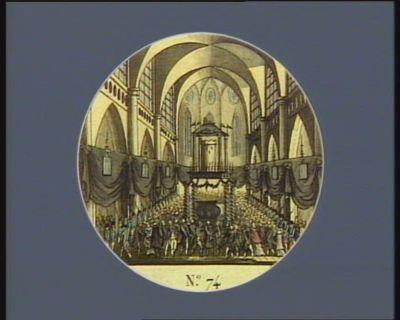 N.o 74 5 decembre. Service funèbre célebré à Avignon dans l'eglise metropolitaine... : [estampe]