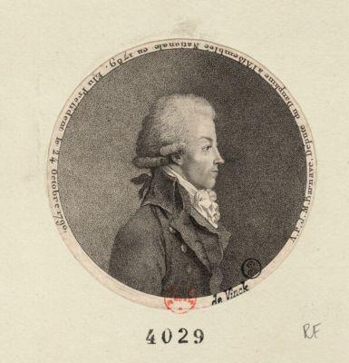 A.P.J.M. Barnave, député du Dauphiné à l'Assemblée nationale en 1789, élu président le 24 octobre 1790 [estampe]