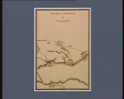 Fin de la bataille de Cassano [estampe]