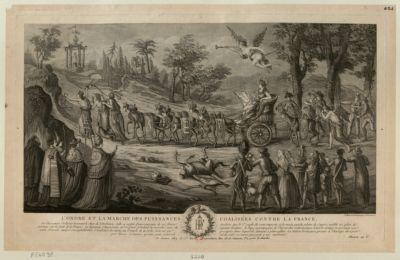 L' Ordre et la marche des puissances coalisées contre la France [estampe]
