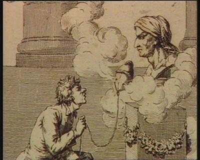 9.<em>e</em> plaie Les ténébres. Culte de Marat. Dans leur aveuglement à ce monstre odieux Ils présentoient l'encens que l'on ne doit qu'aux dieux. : [estampe]