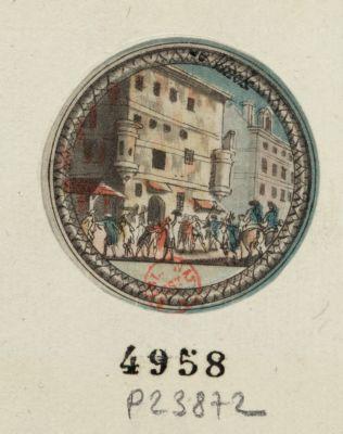 Delivrance des Gardes françoises [estampe]