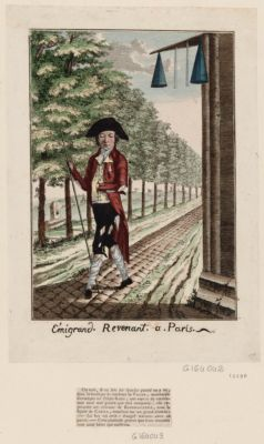 Emigrand revenant a Paris [estampe]