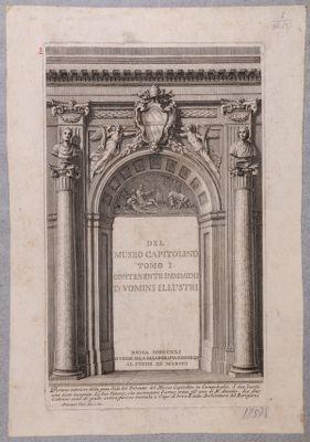 Campidoglio, porta interna del Museo