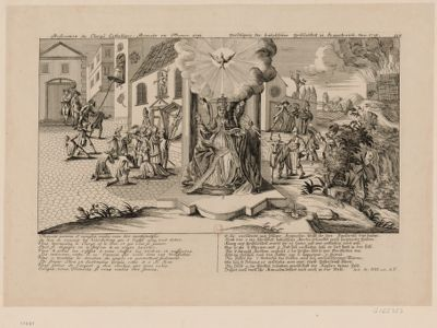 Persecution du clergé catholique-romain en France. 1791 [estampe]