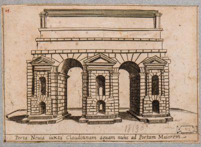 Porta Prenestina, restituzione immaginaria