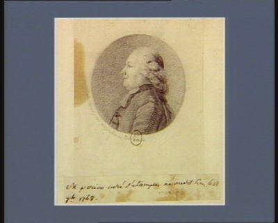 M. Perion curé d'Estampes né au dit lieu le 18 7.b. 1748 : [dessin]
