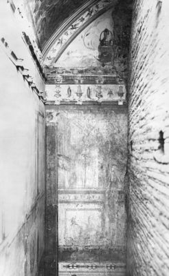 Domus Augustana, wall decoration of the Aula Isiaca under the Basilica of the Domus Flavia