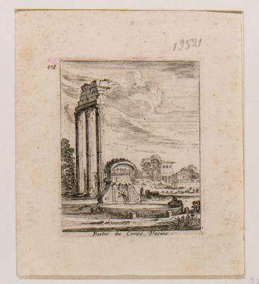Campo Vaccino. Tempio di Castore e Polluce, resti del colonnato