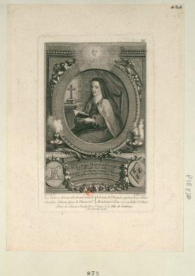 M.e Louise Marie de France née à Versailles le 13 juillet 1737 religieuse carmelite sous le nom de Sr Thérèse de St Augustin au couvent de St Denis en 1770 : [estampe]