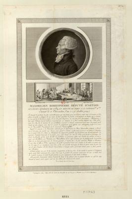 Maximilien Robespierre député d'Artois aux Etats generaux de 1789 [estampe]