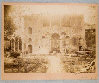 Villa già del Bufalo, prospetto