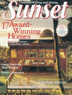 Sunset Magazine cover. October 1997