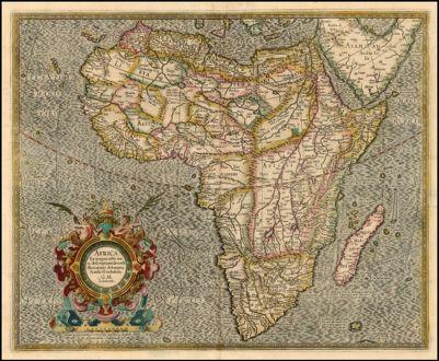 Africa Ex magna orbis terre descriptione Gerardi Mercatoris desumpta Studio & insustrai G.M. Iunioris