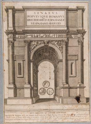 Arco di Tito, disegno ricostruttivo