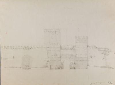 Porta Tiburtina, veduta dall'esterno della città