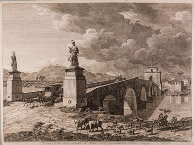 Ponte Milvio, veduta dello stato del ponte Molle