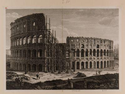 Colosseo. Esterno visto dal podio del tempio di Venere e Roma