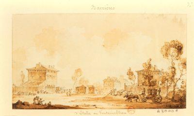 [Barrière d'Italie ou de Fontainebleau] [dessin]