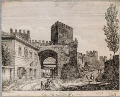 Porta Tiburtina, veduta dall'interno con adiacenze