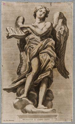 Statua di uno degli angeli del ponte S. Angelo