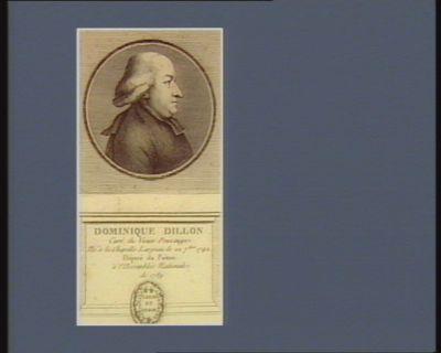 Dominique Dillon curé du vieux Pouzauge né à la Chapelle Largeau le 22 7.bre 1742 député du Poitou à l'Assemblée nationale de 1789 : [estampe]