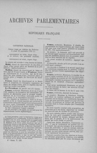 Tome 52 : Du 22 septembre au 26 octobre 1792 - page 65
