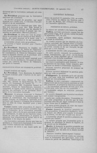 Tome 52 : Du 22 septembre au 26 octobre 1792 - page 67