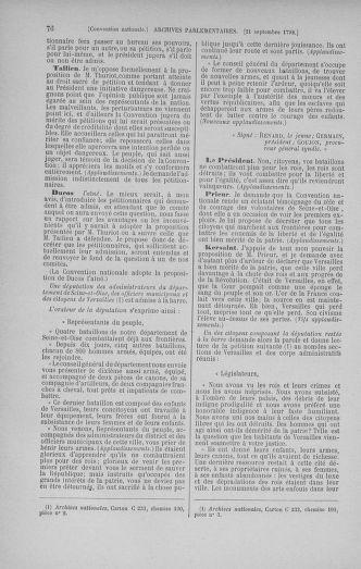 Tome 52 : Du 22 septembre au 26 octobre 1792 - page 76